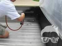 how to spray in truck bed liner